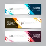 Vector abstract design banner template. stock images