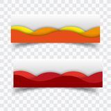 Vector abstract design banner web template stock illustration