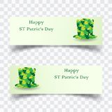 Vector illustration of a St. Patrick`s Day. banner background royalty free illustration