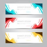 Vector abstract design banner template. stock image