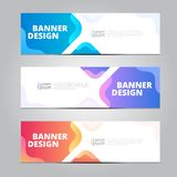 Vector abstract design banner template. royalty free stock images