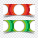 Vector abstract design banner web template royalty free illustration
