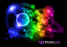 Vector abstract design. Bubbles stock illustration