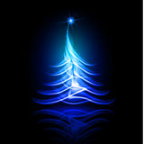 Vector abstract design. Christmas tree. Royalty Free Stock Photos