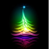 Vector abstract design. Christmas tree. Abstract vector glowing background. Color Christmas tree Stock Images