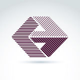 Vector abstract design element with parallel stripes. Corporate Royalty Free Stock Photography