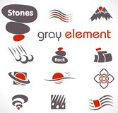 Vector abstract design elements. Set 9. Royalty Free Stock Photography