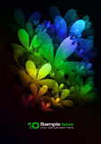 Vector abstract design. Flowers Stock Photography
