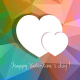 vector abstract design with hearts for Valentines  Royalty Free Stock Images