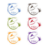 Vector abstract design stickers set of the Stock Photography