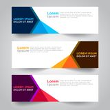 Banner background. Modern template vector design. Vector abstract design web banner template. Web Design Elements - Header Design. Abstract geometric web banner Stock Photography