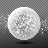 Vector abstract digital global network design Royalty Free Stock Images