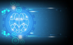 Vector abstract digital system brain genius working background. Eps 10 vector Stock Images