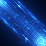Vector abstract digital technology concept background Stock Photo
