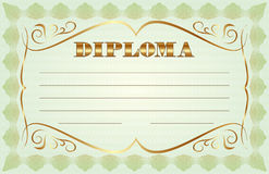 Vector abstract diploma template Stock Photo