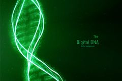 Vector abstract DNA double helix illustration. Mysterious source of life background. Futuristic genom. Conceptual design Royalty Free Stock Photo