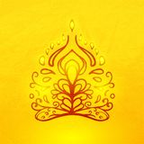 Vector abstract doodle buddha Stock Photos