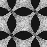 Vector abstract dotted geometric pattern element. Based on ethnic ornaments. Stipple technique. Pointillism Stock Images