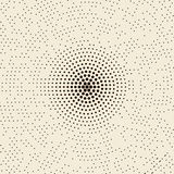 Vector abstract dotted halftone radial pattern background Royalty Free Stock Photography