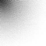 Vector abstract dotted halftone texture. Vector abstract dotted halftone template background. Pop art dotted gradient design element. Grunge halftone textured Stock Image