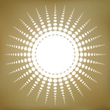 Vector Abstract Dotted Sun Symbol Royalty Free Stock Photos