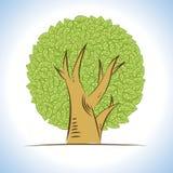 vector: abstract drawings lush tree Royalty Free Stock Image