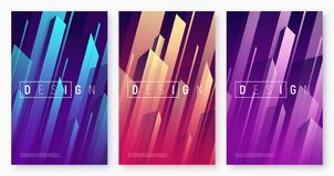 Vector abstract dynamic geometric backgrounds, colorful minimal. Cover designs, futuristic posters with stylized urban cityscape. Global swatches vector illustration