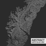 Vector abstract earth relief map. Royalty Free Stock Photography