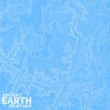 Vector abstract earth relief map. Stock Photos