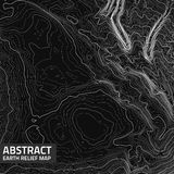Vector abstract earth relief map. Royalty Free Stock Image