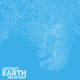 Vector abstract earth relief map Royalty Free Stock Images
