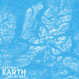 Vector abstract earth relief map Royalty Free Stock Photography