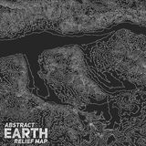 Vector abstract earth relief map Stock Photo