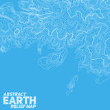 Vector abstract earth relief map. Generated conceptual elevation map Stock Photo