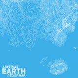 Vector abstract earth relief map Stock Photos