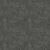 Vector abstract earth relief map seamless pattern. Generated conceptual elevation map. Royalty Free Stock Photo