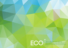 Vector abstract eco concept. A4 size colorful abstract eco concept illustration (EPS10) with free font and dummy text. Design can be scaled to any resolution Royalty Free Stock Photography