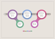 Vector abstract element for business. Strategy in stages. Steps Stock Photo