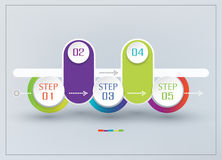 Vector abstract element for business. Strategy in stages. Steps Stock Images