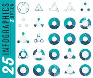 Vector abstract element infographics set 3,4,5,6 option. Design. For business, finance layout, workflow, timeline, information, presentation and other. Abstract Vector Illustration