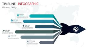 Vector abstract element timeline infographics. Design for busine. Ss or finance template layout, brochure, workflow, information or presentation and other Royalty Free Illustration