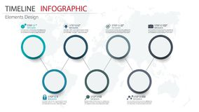 Vector abstract element timeline infographics. Design for busine. Ss or finance template layout, brochure, workflow, information or presentation and other Stock Illustration