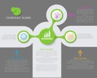 Vector abstract element voor zaken Presentatie Infographic Stock Afbeeldingen