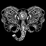 Vector abstract elephant in Indian style mehndi Royalty Free Stock Photography