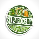 Vector abstract embleem voor St Patrick ` s Dag Stock Fotografie