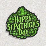 Vector abstract embleem voor St Patrick ` s Dag Stock Foto's