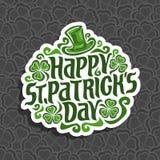 Vector abstract embleem voor St Patrick ` s Dag Royalty-vrije Stock Afbeelding