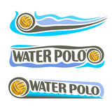 Vector abstract embleem voor Water Polo Ball Stock Foto's