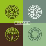 Vector abstract emblem - ecology Royalty Free Stock Image