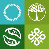 Vector abstract emblem Stock Images